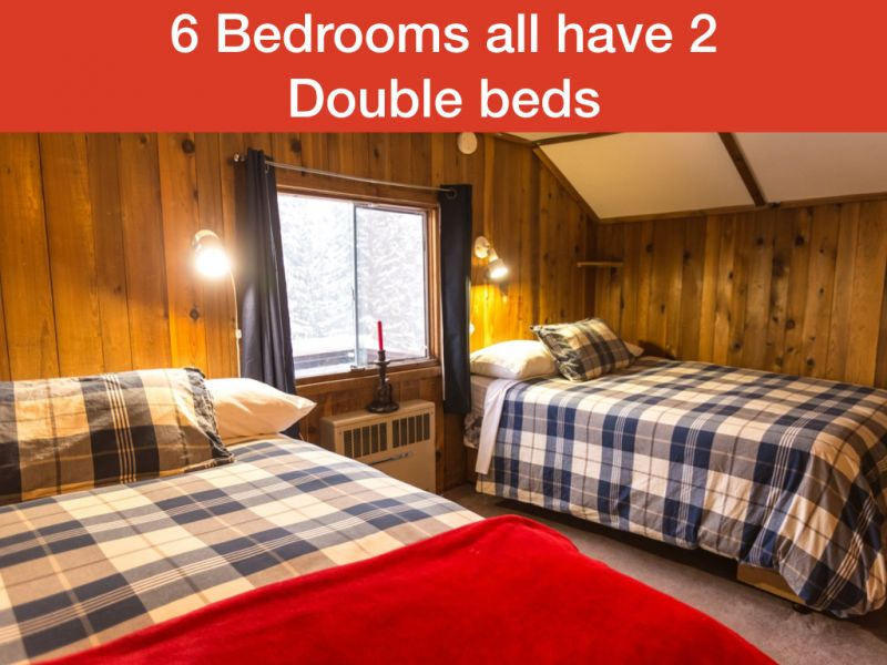 2 double beds in each room